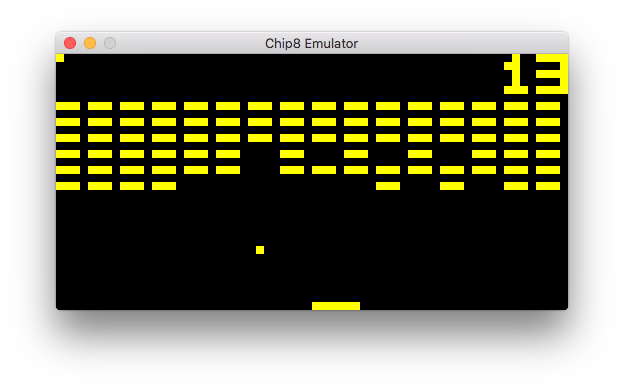 Chip8 Emulator Playing Brix